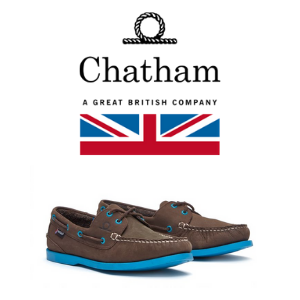 a pair of men's cheany deck shoes made by chatham marine for men's shoes made in britain