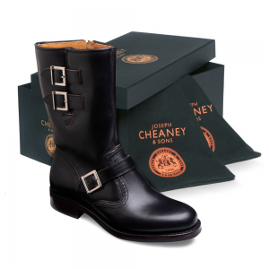 cheaney black women's luxury boots, women's shoes made in britain