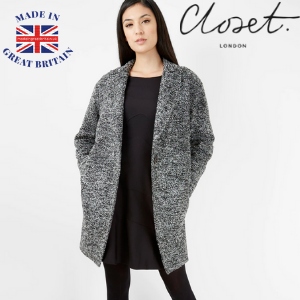 closet london grey coat made in uk wool coat