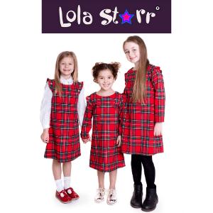 lola starr red girls tartan dress