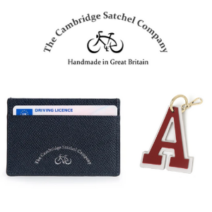 leather wallets and letter keyring by cambridge satchel company
