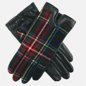 pairof dents women's tartan gloves