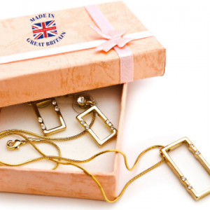 british made gifts and jewellery box with gold chain, british made gifts, british made jewellery