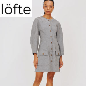 lofte fashion clothing silver dress, isabel manns, h.huna, newt london
