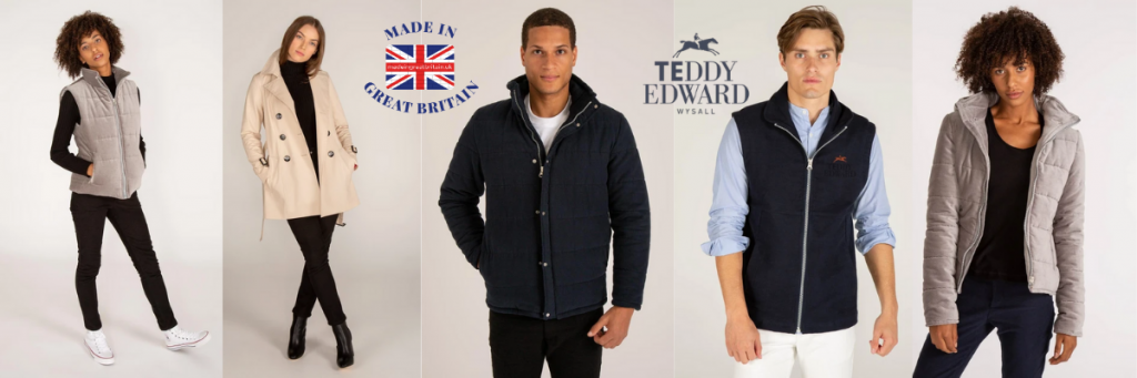teddy edward luxury quilted coats and gilets for men, british made coats