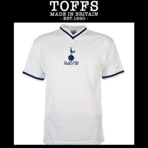 toffs fa cup final retro replica football shirts made in britain, spurs fa cup final shirt 1981