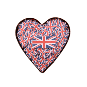 Valentines Day gifts made in Britain, British made valentines heart union jack british flag, made in great britain and uk