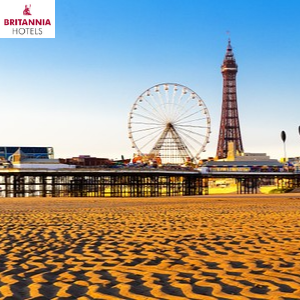 blackpool tower and pleasure beach from the sands