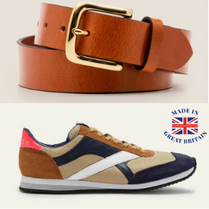 walsh tornado traniners and brown leather belt from boden made in britain collection