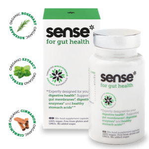 sense health supplements and wellbeing, gut health products made in britain