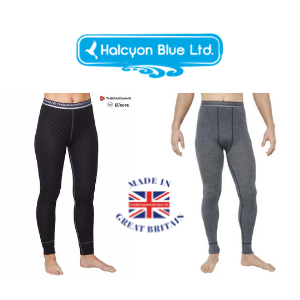 base layer leggings for women and men made in uk by halcyon blue