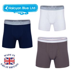 halcyon blue men's boxer shorts organic cotton made in uk