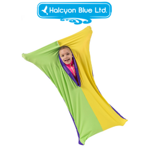 lycra sensory stretch cover tunnel toy for autism and special needs children made in great britain