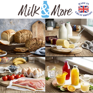 milk and more glass bottled milk and bakery items delivered by british artisan food makers