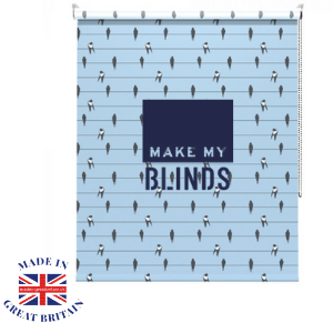 make my blinds, birds blue roller blind, made in great britain, best of british