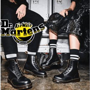doc martens vintage 1460 black ankle boots made in england