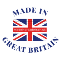 Made in great britain image logo union jack flag with text