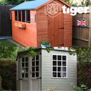 tiger sheds made in uk sheds and summer houses