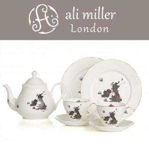 ali liller home sweet home uk map and ireland complete bone china tea set, made in great britain