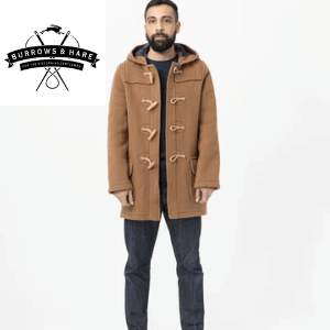 burrows and hare water repellent wool duffle coat