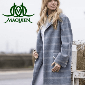 maquien seville checked coat