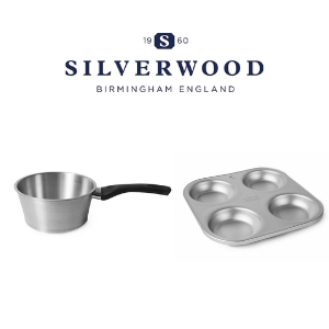 silverwood delia smith saucepan and yorkshire pudding tins by silverwood bakeware made in birmingham