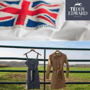 teddy edward british made dresses, pinafor dress made in uk