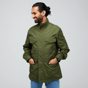 community clothing men's field jacket olive green made in uk