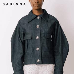 sabinna denim jacket handmade in the UK