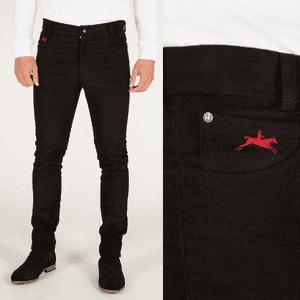 teddy edward black moleskin jeans made in great britain