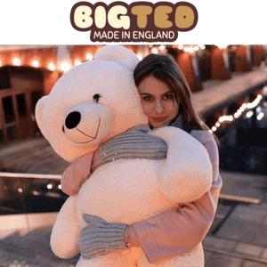 giant big teddy bear cream big ted made in england