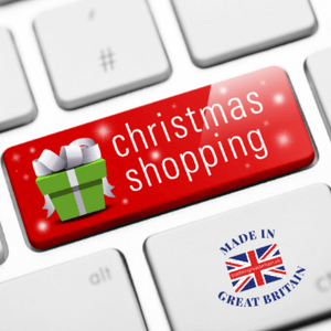 christmas shopping online keyboard made in great britain