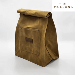 mr mullan's leather and canvas wash bag