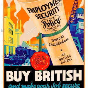 old poster keep british jobs secure employment security