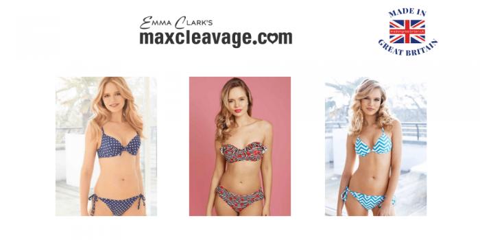 women wearing max cleavage gel filled bikinis made in uk