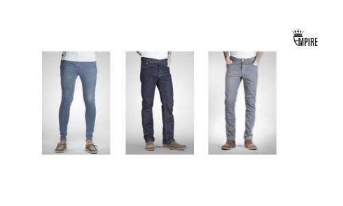 Empire, Mens legs in denim jeans, British made denim jeans