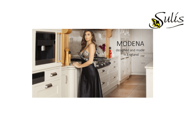 Sulis Silk Lingerie, Made in Great Britain, Best British Lingerie Brands, woman in kitchen wearing a sexy silk night gown, Made in England