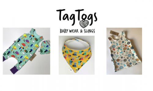 tag togs, baby slings and wraps