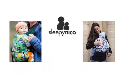 sleepy nico, british baby brand, babywearing and baby carriers, made in britain
