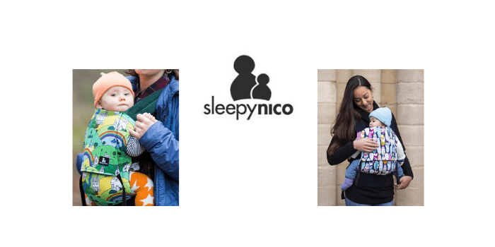 sleepy nico, british baby brand, babywearing and baby carriers, made in britain
