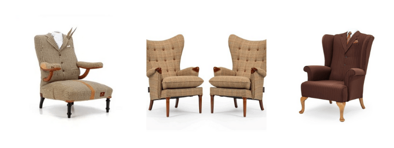 tweed designer chairs, rhubarb chairs