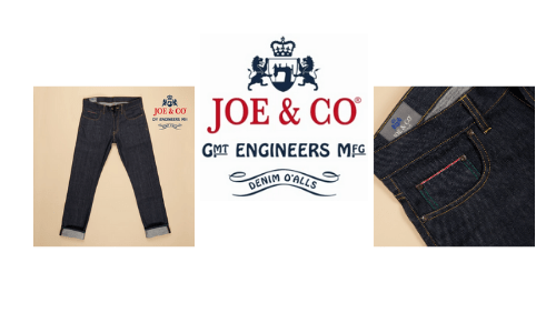 joe and co, made in england jeans and menswear,