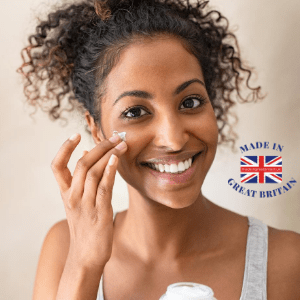 best british beauty brands, woman applying face cream, mixed race woman face cream, best blog uk,