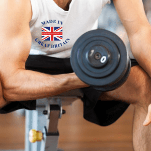 best british gym equipment brands, man with dumb bell weight working out on bench, made in britain, made in britain blog