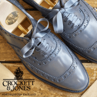 crockett and jones women's brogue grey shoes, british made women's shoes