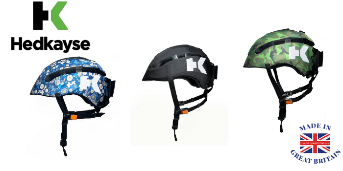 headkayse cycling helmets made in uk featuring flower stle and combat army cycle helmet, british cycling brnads