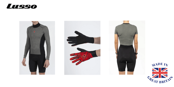 lusso british cycling brand and manufacturers of cycling clothing shorts base layers and gloves, British cycle clothing brands,