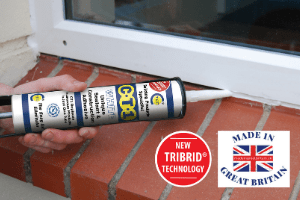 ct1 sealant and adhesive being used to seal a pvc window,