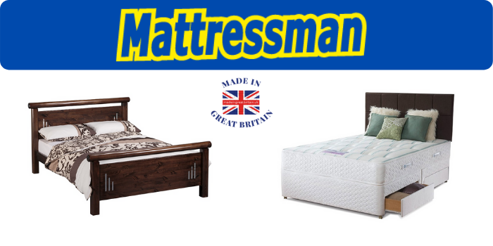 divan double bed and pine wood king size bed made in uk and available from mattressman