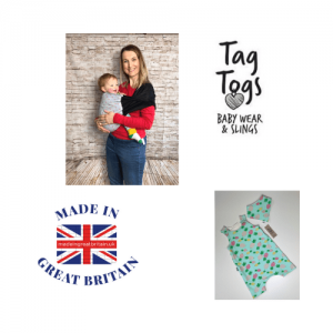 Tag Togs, British made baby clothes, Baby wraps, baby slings, made in great britain,